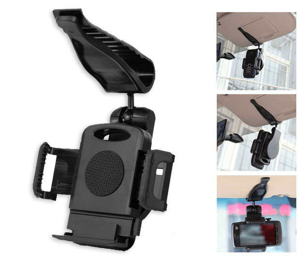 遮陽板 夾式 萬用車架/車架/手機架/手機 導航 車用固定架/支撐架/手機座/Asus ZenFone 4/5/PadFone S/E/mini 4.3/PF400/TIS購物館