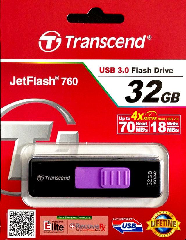 TRANSCEND 創見 JF760 32G USB3.0 創見隨身碟 無蓋滑動式可伸縮 TS32GJF760 JetFlash 760/TIS購物館