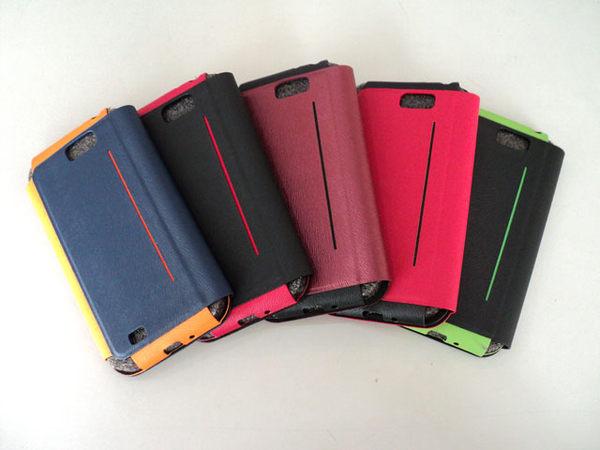 【APPLE iPhone 5/5S 手機套】撞色混搭*超輕薄鋼板 隱形磁扣 側入式手機皮套/橫入式保護套/雙色保護套/i Phone 5C 可適用/TIS購物館