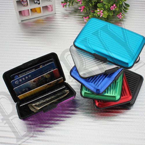 《Jami Honey》法式壓紋硬殼鋁製行李箱造型防消磁風琴卡包套  鋁製金屬硬殼 6卡防磁信用卡包   銀行卡包  卡片盒  名片盒