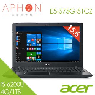 【Aphon生活美學館】ACER E5-575G-51CZ 15.6吋 Win10 2G獨顯 筆電(i5-6200U/4G/1T)-送4G記憶體(需自行安裝)