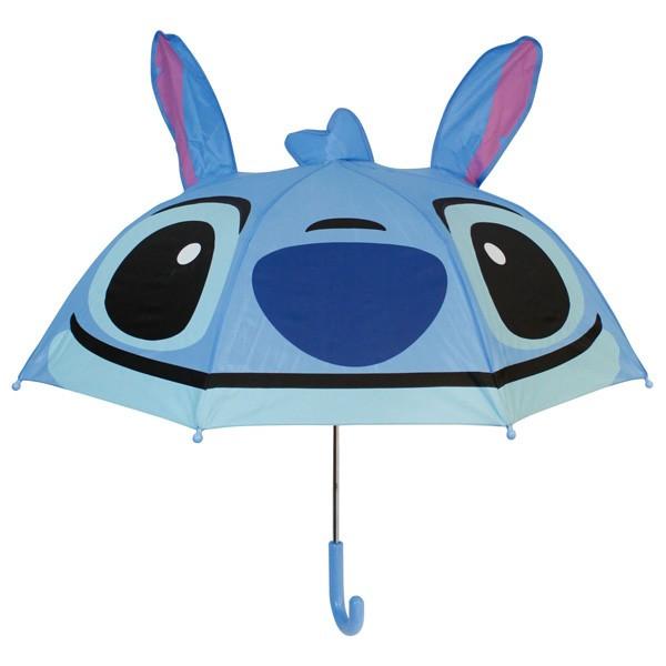 【真愛日本】16080400028立體造型雨傘47cm-史迪奇大臉藍    迪士尼 星際寶貝 史迪奇  雨晴傘 造型傘