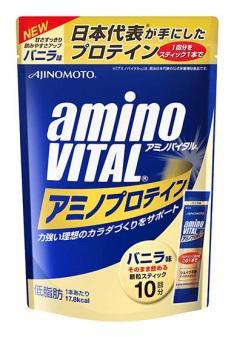【橘町五丁目】amino VITAL 胺基酸乳清蛋白/香草口味【4.3g * 10包入】-免運