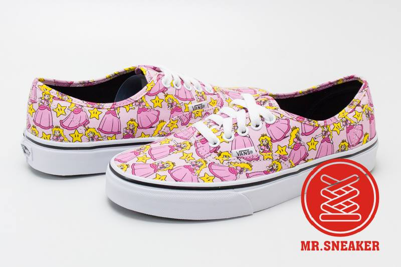 ☆Mr.Sneaker☆ VANS X Nintendo Authentic Princess Peach 等待拯救的公主 聯名 限量 粉紅 女款