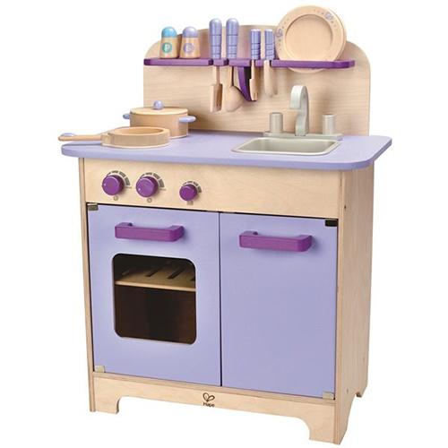 【免運費】《德國Hape愛傑卡》角色扮演廚房系列-角色扮演廚房系列 - 大型廚具台 ( 紫色 - 含配件)