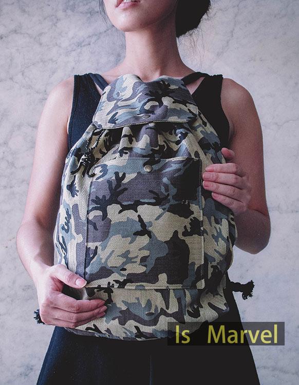 【Is Marvel】野戰迷彩束口包 後背包《預購》