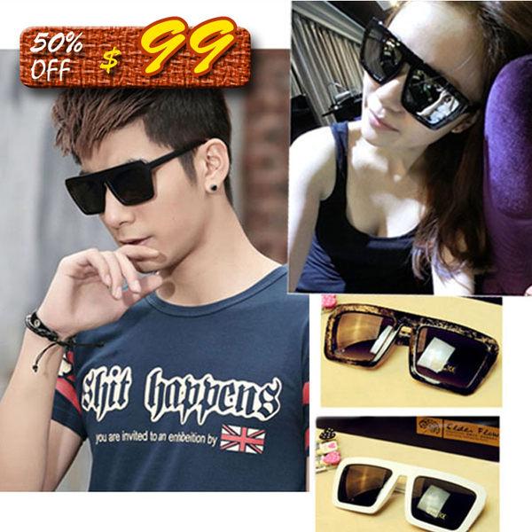 Mao 夏季新款時尚款太陽鏡大框墨鏡經典男女款