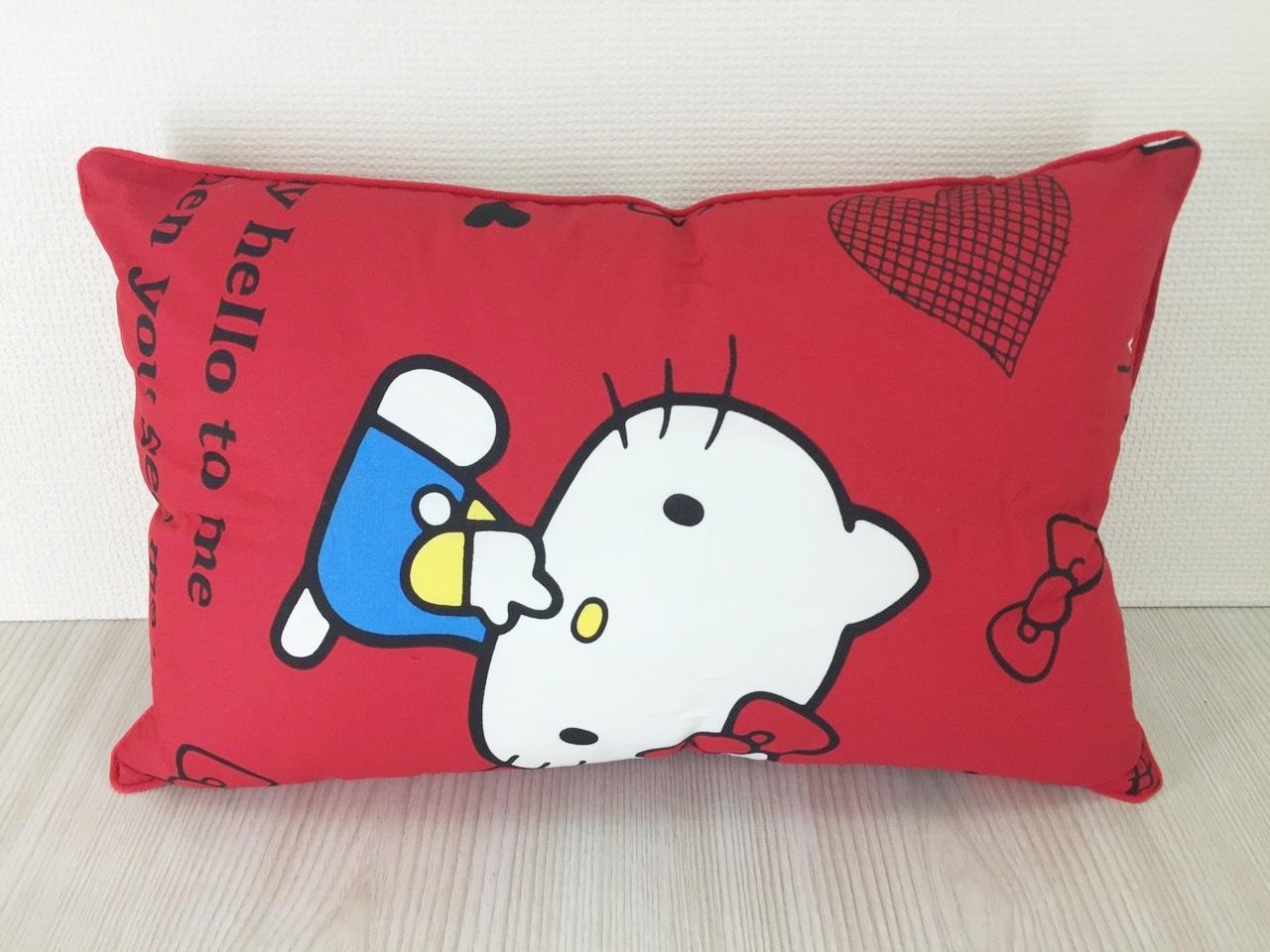 【真愛日本】15120200032童枕45*33-我是HELLO KITTY紅  三麗鷗 Hello Kitty 凱蒂貓  枕頭 童用  靠枕
