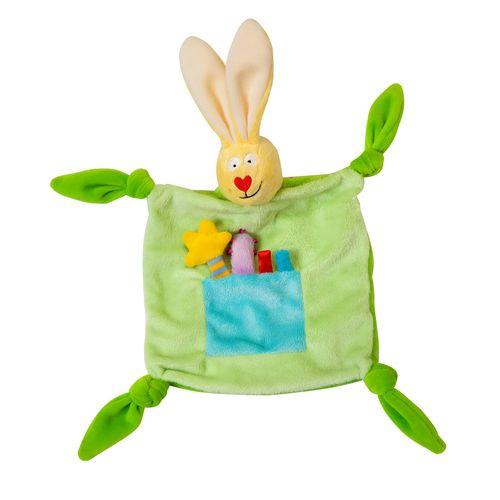 ★衛立兒生活館★TAF Toys 小兔毯子(小兔安撫毯巾)(顏色隨機出貨)