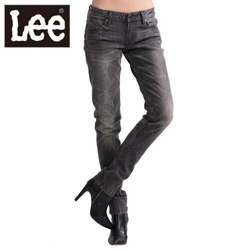 【Super Sales 褲款下殺↘2.5折】LEE牛仔褲超低腰合身窄管403 -女款(灰)