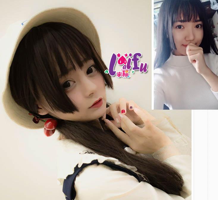 ★草魚妹★W67假髮美姬旁短可愛直髮假髮長髮假髮,整頂售價450元