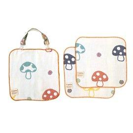 Hoppetta - 六層紗多功能蘑菇手帕夾組