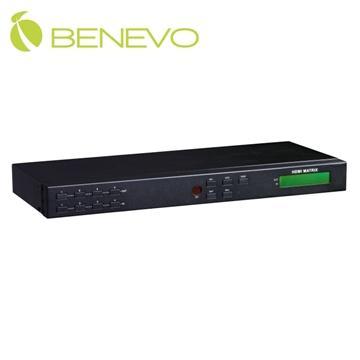 BENEVO UltraVideo 矩陣型4x4 HDMI數位影音切換分配器(面板按鍵/遙控/Serial) ( BHS404M )