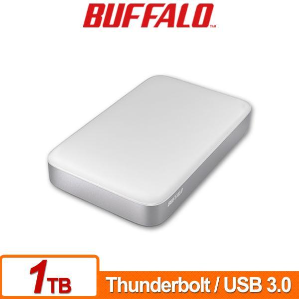 Buffalo PAU3 Thunderbolt 1TB(白) 2.5吋防震鏡面行動硬碟