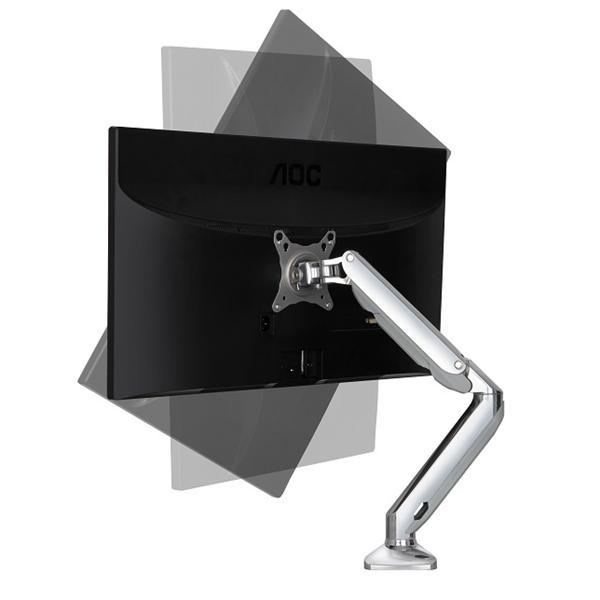 【NB】F100 17~27吋液晶螢幕 氣壓型萬向液晶螢幕架-單臂雙節 高強度航空鋁材