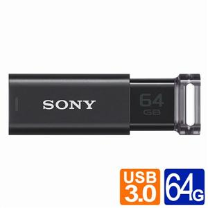 SONY炫彩MicroVault Click/64G USB3.0隨身碟(黑色)