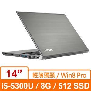 Toshiba Z40-B PT459T-01000C(金)Ultrabook筆記型電腦 14W HD+/i5-5300U/8G/512G SSD/nVIDIA N16S-GM 2GB/W7 PRO+W8 PRO