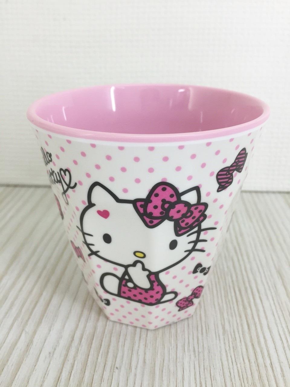 【真愛日本】15120100011格紋水杯-多結粉 三麗鷗 Hello Kitty 凱蒂貓   杯子  水杯 漱口杯