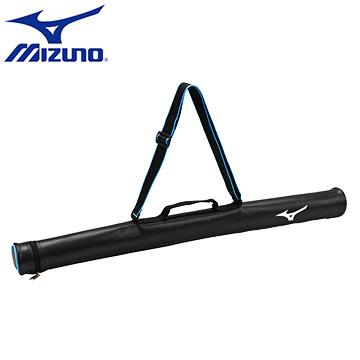 1FTT610609〈黑X水藍〉輕量防水立體紋皮革 一支裝球棒袋【美津濃MIZUNO】