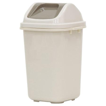 掀蓋垃圾桶 6L 時尚-S 米色 BI-5808