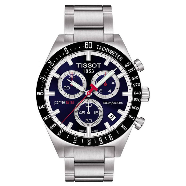 TISSOT天梭T0444172104100賽車PRS516計時腕錶/藍面42mm
