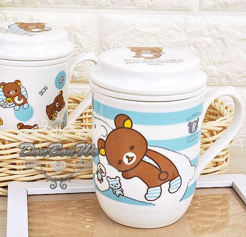 [餐具小物]台灣製懶懶熊拉拉熊陶瓷泡茶馬克杯低價實用系列躺白熊202597多圖躺枕202603海渡
