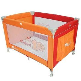【悅兒樂婦幼用品舘】Gelite 基本款 歐規松鼠遊戲床-橘色(附蚊帳)