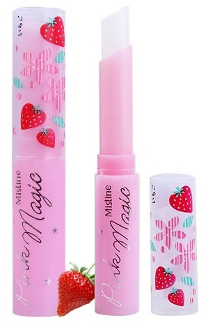 泰國 Mistine PINK MAGIC 草莓變色護唇膏 1.7g ☆真愛香水★
