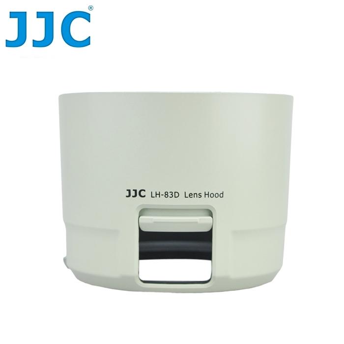 又敗家@JJC佳能副廠Canon遮光罩ET-83D遮光罩(白色,可反扣倒裝,有開窗調CPL偏光鏡/ND減光鏡更方便)相容Canon原廠遮光罩ET-83D太陽罩,適EF 100-400mm F4.5-5.6L IS II USM遮陽罩遮罩lens hood f/4.5-5.6 1:4.5-5.6 ET83D遮光罩