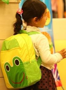 lindalinda◆新款糖果色卡通動物造型防水雙肩包兒童休閒後背包-綠色青蛙