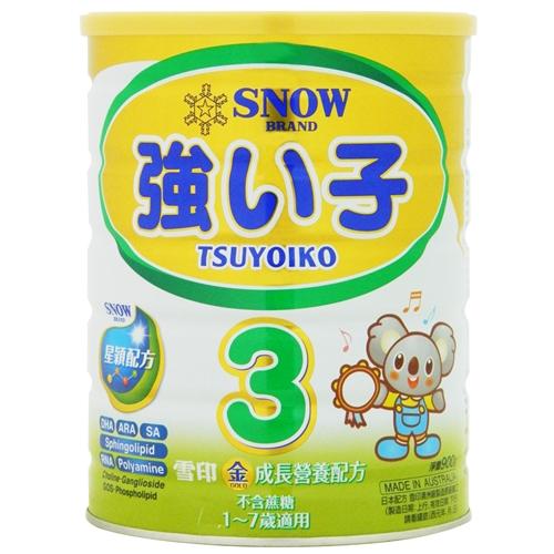 雪印金強子成長奶粉3號 900g [買6送1]【合康連鎖藥局】