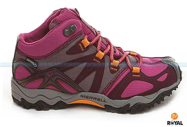MERRELL 新竹皇家 GRASSBOW MID SPORT GORE-TEX 桃色 防水 高筒 運動鞋 女款 NO.I6149
