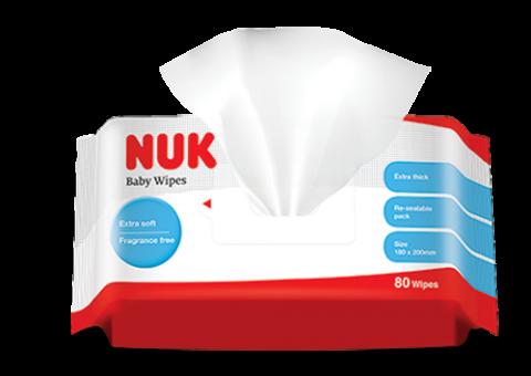 『121婦嬰用品館』NUK 濕紙巾20抽 5包入