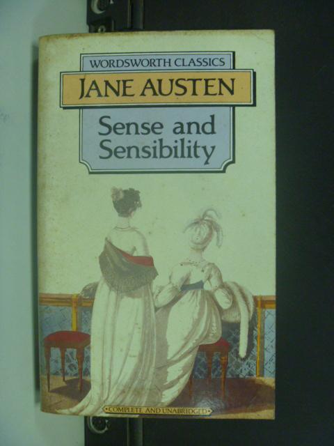 【書寶二手書T3/原文小說_GCT】Sense and Sensibility 理性與感性_Austen, Jane