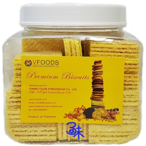 **旅泰必買**(泰國) vfoods威化餅-檸檬 1罐 360公克 特價 99元 【4713648833270 】(巧克力夾心酥)