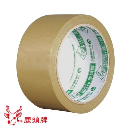 """鹿頭牌 加長型布紋膠帶 ( 48mm x 18M ) PVS1N 封箱膠帶 2"""" 封口膠帶 PVC膠帶 可手撕膠帶"""
