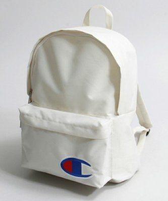 【蟹老闆】Champion 基本款大logo 後背包 白色 backpack