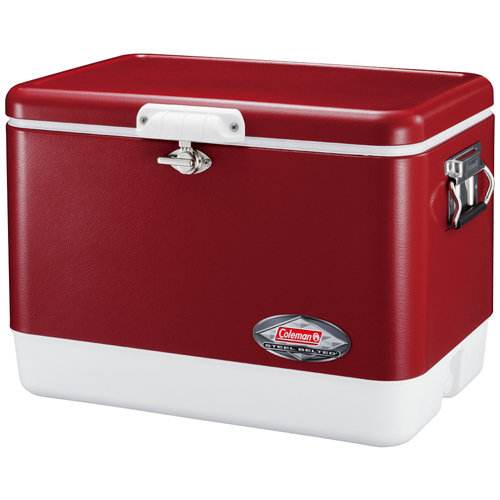 【露營趣】中和 美國 Coleman 極致品味 51L鋼甲冰箱 不鏽鋼冰箱 冰桶 行動冰箱 釣魚露營必備 CM-2018