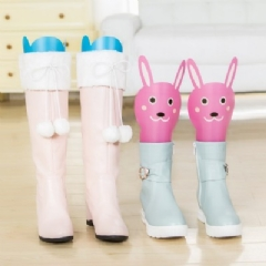 WallFree窩自在★卡通造型可調高度靴撐片彈力靴撐-藍色大象