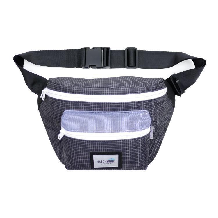 REMATCH - Matchwood Portable 腰包 側背包 斜背包 隨身包 黑色格紋款 單車運動 / 旅遊休閒隨身 / HEADPORTER / Herschel / Supreme 可參考