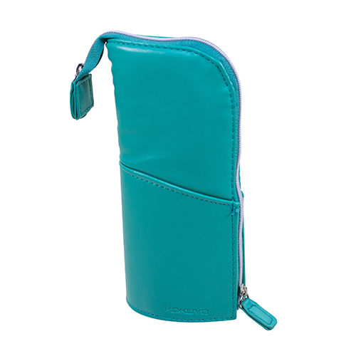 【KOKUYO】  多功能PU直立式筆袋(綠色) PC006-LG