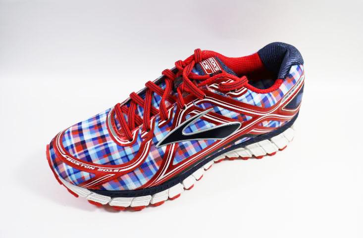[陽光樂活] BROOKS (男) 慢跑鞋 ADRENALINE GTS 16 Boston Edition-1102121D694 格紋 童趣 鯨魚 科技感
