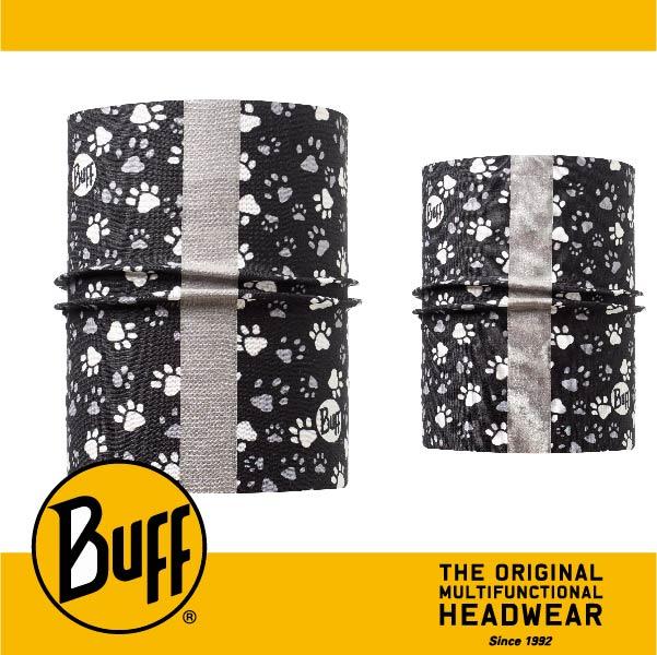 BUFF 西班牙魔術頭巾 寵物頭巾系列 BF111249 寵物反光頭巾S/M 毛孩足印
