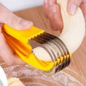 美麗大街【BF275E3E823】創意不銹鋼香蕉切片器 廚房切火腿腸切割器 料理水果刀
