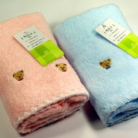 Gemini雙星毛巾 ~ GT進口素材可愛刺繡熊厚毛巾 _ 1條入