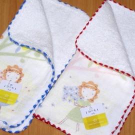 【夏日必備】《小方巾/手帕/童巾》╭*GT花園散步 紗布印花小手巾(24*24cm)