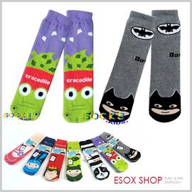 【esoxshop】SOCKS 可愛止滑毛巾底造型地板襪 2-8歲 男女款 直版襪 止滑襪 童襪 造型襪