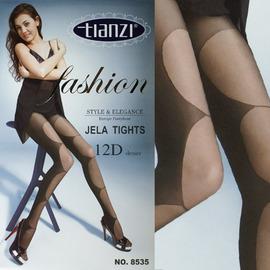 【esoxshop】╭*TIANZI 立體橢圓顯瘦假挖洞緹花褲襪╭*流行時尚新款《絲襪/褲襪褲/造型襪》