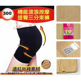 【esoxshop】╭*isox 機能波浪按摩提臀三分束褲╭*完美曲線╭*300D《纖體/美體/雕塑》