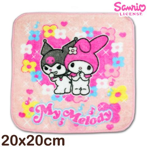 【esoxshop】Melody純棉小手巾 美樂蒂與酷洛米款 台灣製 Sanrio